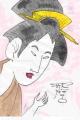 4歌麿婦人手業十二工機織り (2)