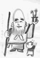 2仙厓義梵寿老人