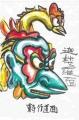4東寺の行道面(Garuda、かるら) 迦楼羅(1)
