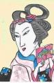 3歌川国芳縞揃え女弁慶 (2)