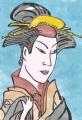 5浮世絵東洲斎写楽 2代目瀬川富三郎の大岸蔵人妻やどり木(2)