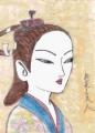 5浮世絵懐月堂度種桜花立美人