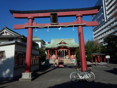 師走 多摩川 神社詣で