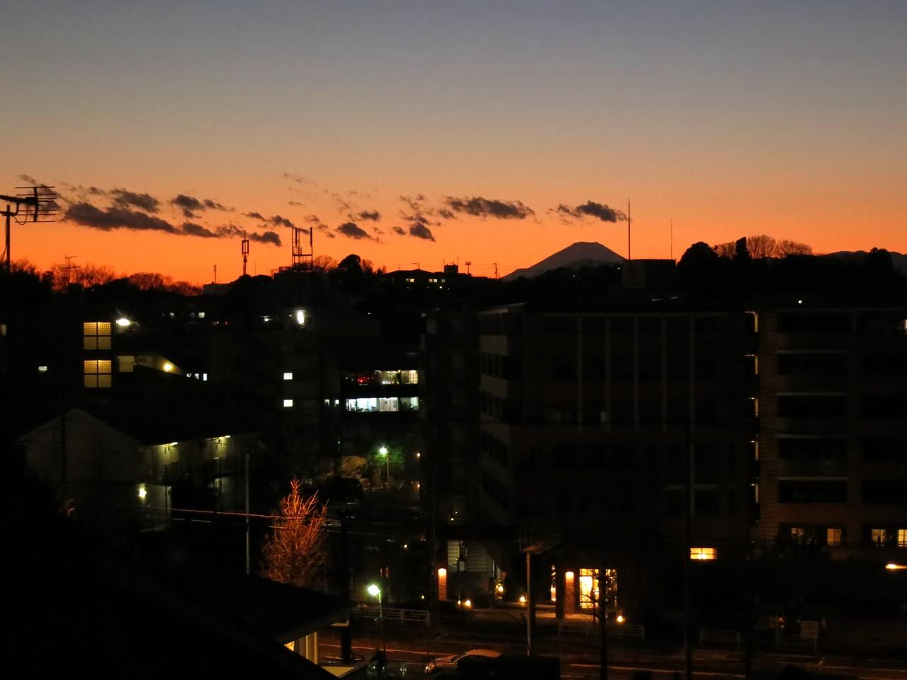 富士山 アルバムに追加 夕焼け富士山