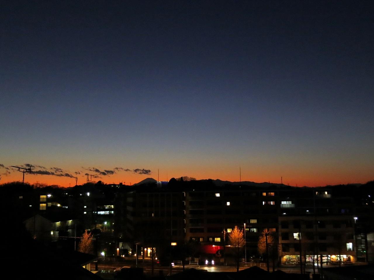 夕焼け富士山2