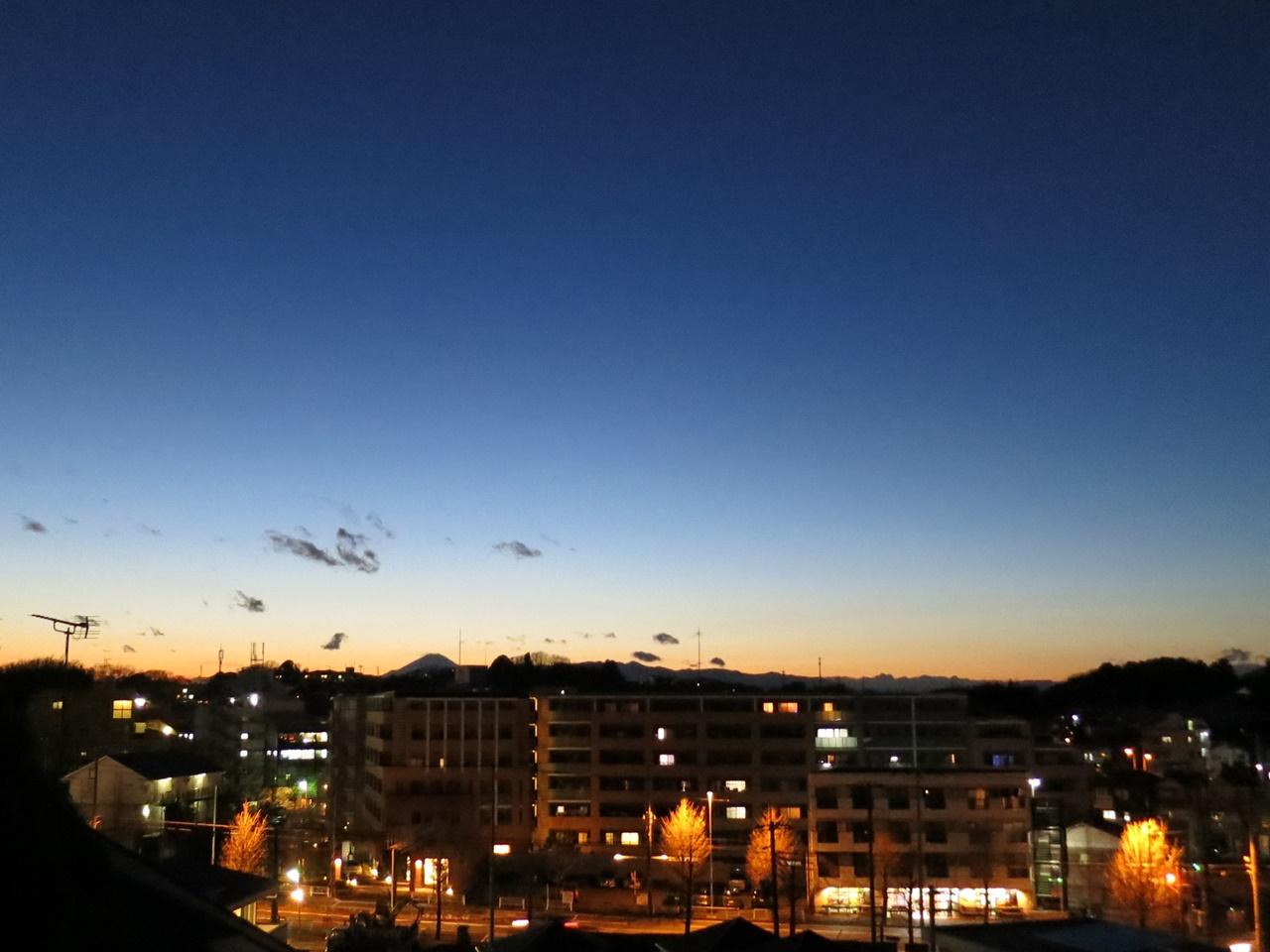 夕焼け富士山3