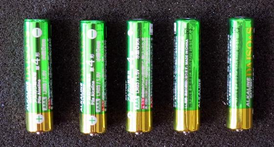 単4乾電池新旧比較