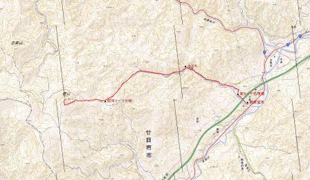 吉和冠山地図
