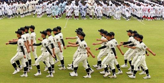 20151222高校野球開会式軍隊式行進2