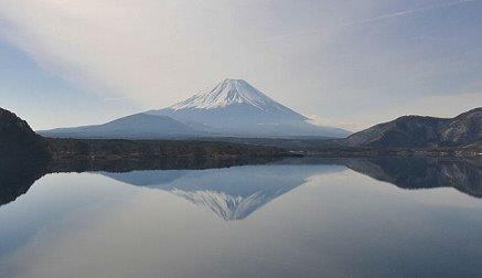 20160126本栖湖と逆さ富士