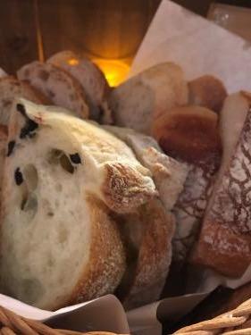 パンの盛り合わせ。