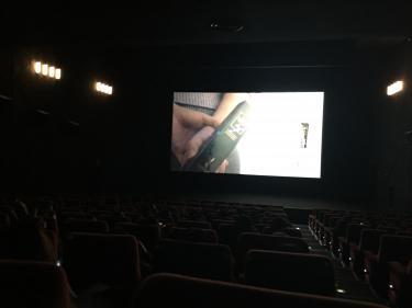 空いてる館内で映画、贅沢な時間ですw