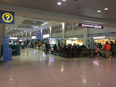 日曜日の仁川空港にて。