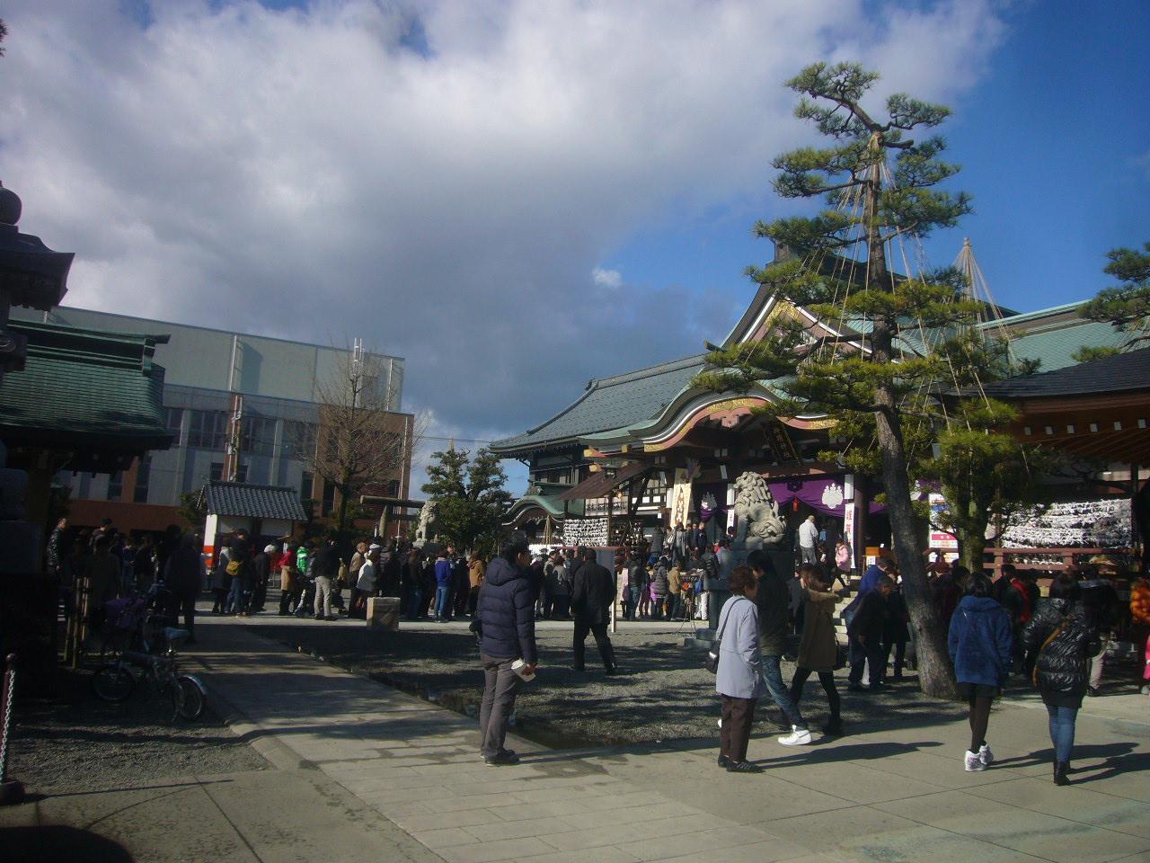 初詣の混雑 神明神社 H28.1.1