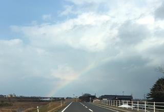 H28年1月31日の虹