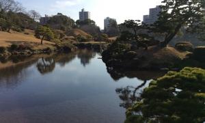東海道53次を模した庭園