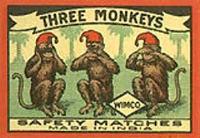スェーデンの三猿