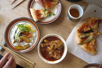 ピザとスープカレー