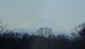 水上公園の土手から見る富士山②
