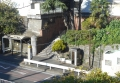 霞橋から見たバス停周辺