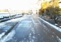 雪かきした道