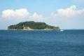 うみかぜ公園(横須賀市)から見る猿島