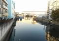 霞橋から見る新山下運河