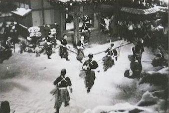 NHK(討ち入り」ロケ風景-1-2
