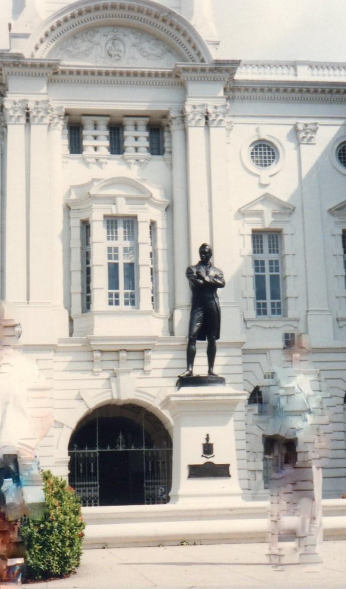 シンガポール 1994年5 月(3日目)ラッフルズ像(ビクトリアシアター&コンサートホール 224 (2)