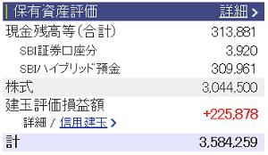 評価損益20160206