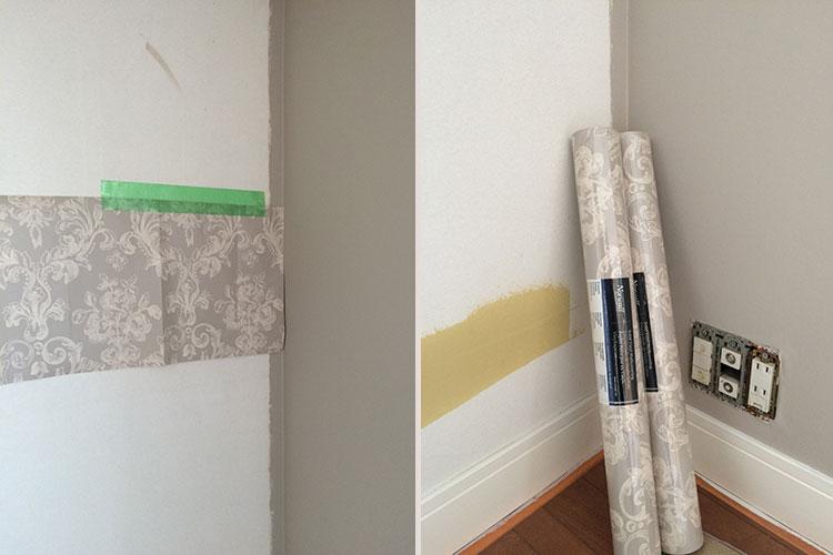 アニーズキッチン 塗装の壁