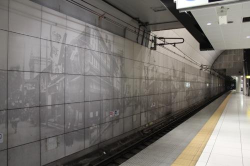 0036:元町・中華街駅舎 中華街の町並みの絵