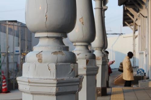 0052:南海 浜寺公園駅舎 造形の美しい列柱