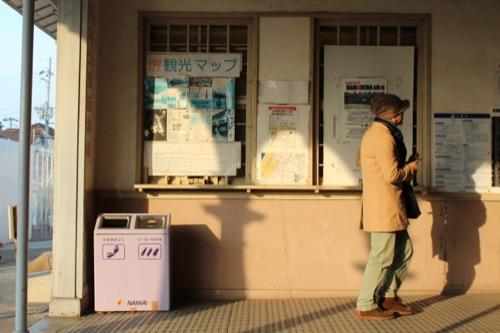0052:南海 浜寺公園駅舎 投影される列柱