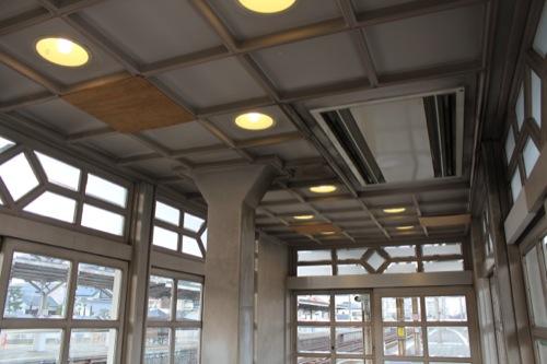 0052:南海 浜寺公園駅舎 待合室内部・天井