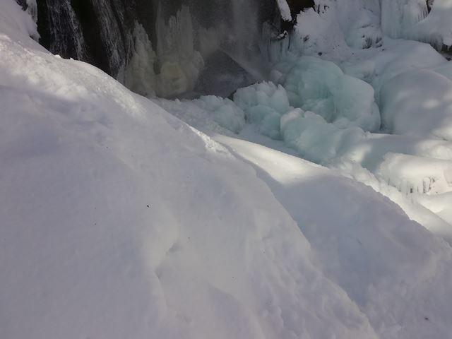 不動滝のブルーアイス