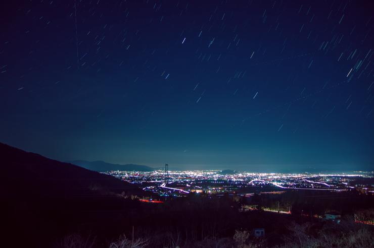 福島市の夜景
