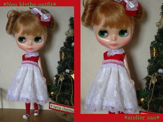 ◆ネオブライス服◆赤と白のドレス★クリスマス★1