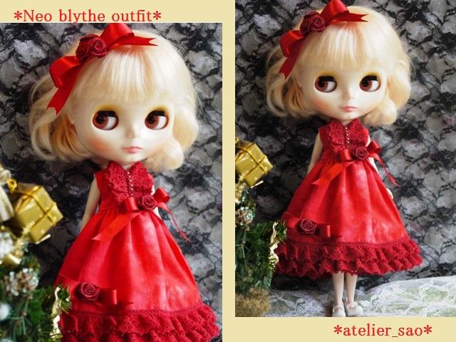 ◆ネオブライス服◆赤のドレス☆クリスマス☆1