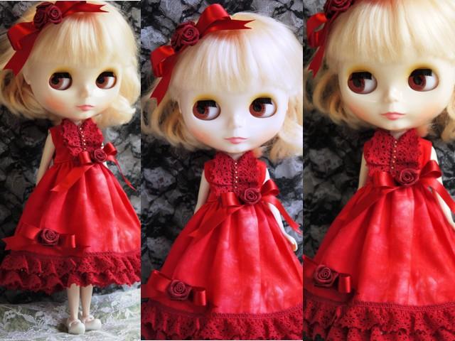◆ネオブライス服◆赤のドレス☆クリスマス☆2