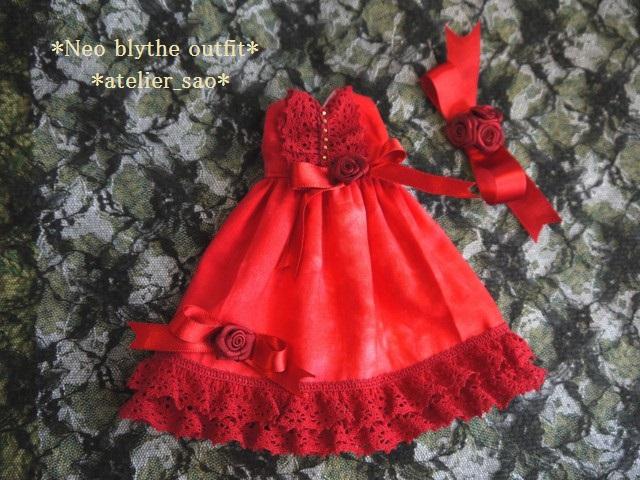 ◆ネオブライス服◆赤のドレス☆クリスマス☆3