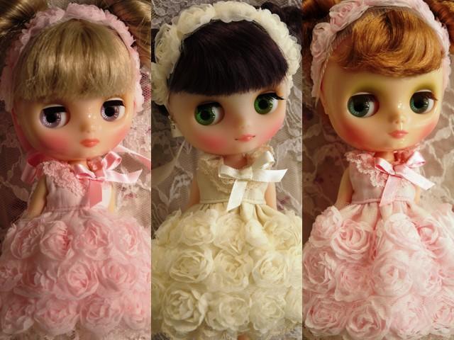 薔薇のドレス3セット
