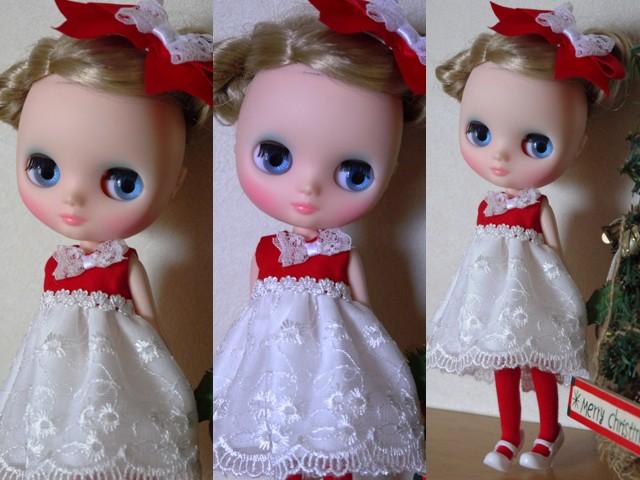 ◆ミディブライス服◆赤と白のドレス★クリスマス2