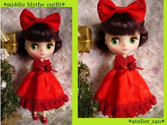 ◆ミディブライス服◆赤のドレス☆クリスマス☆1