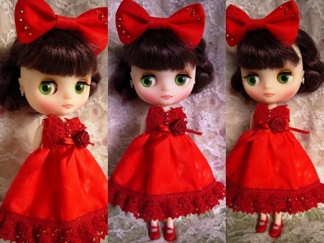 ◆ミディブライス服◆赤のドレス☆クリスマス☆2