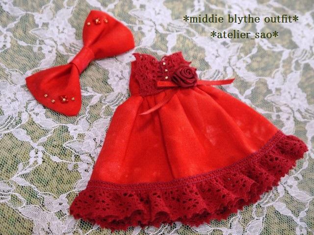 ◆ミディブライス服◆赤のドレス☆クリスマス☆3