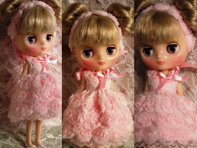 ◆ミディブライス◆薔薇ドレス☆サーモンピンク2