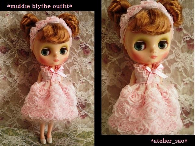 ◆ミディブライス◆薔薇ドレス☆ライトピンク1