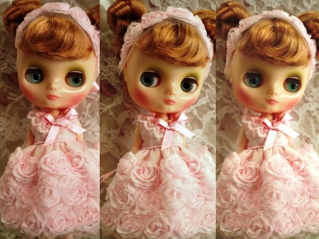 ◆ミディブライス◆薔薇ドレス☆ライトピンク2