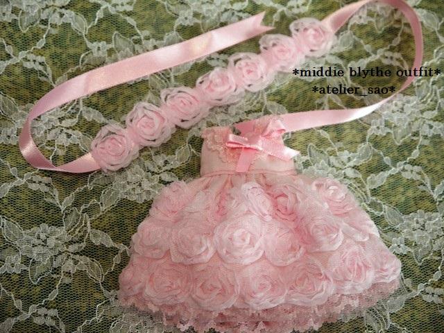 ◆ミディブライス◆薔薇ドレス☆ライトピンク3
